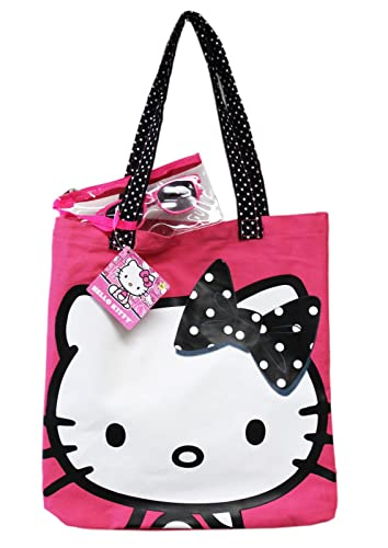 b26ec3b0c Image Unavailable. Image not available for. Color: Sanrio Hello Kitty  Canvas Tote Bag ...