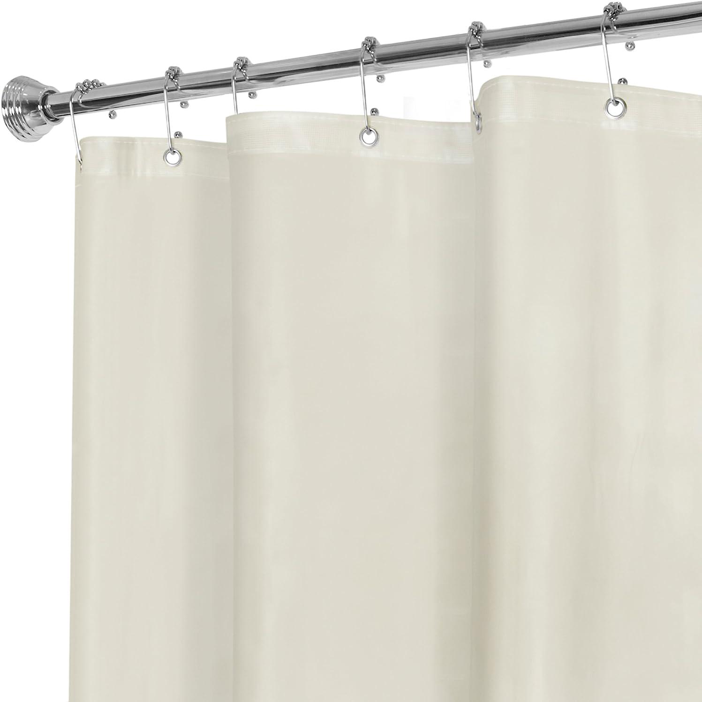 MAYTEX Super Heavyweight Premium 10 Gauge Shower Curtain Liner, Beige