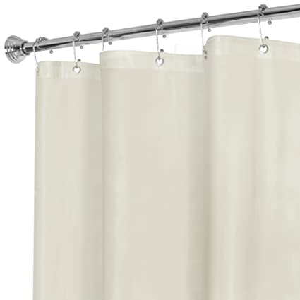 MAYTEX Super Heavyweight Premium 10 Gauge Shower Curtain Liner With Rustproof Metal Grommets Beige