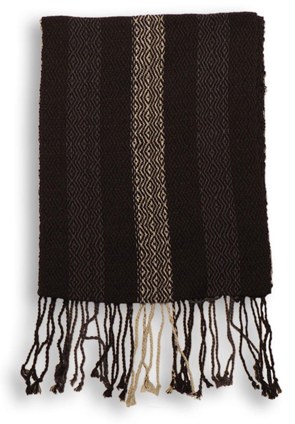 #4417 Hand Loomed Striped Alpaca Scarf Two Pack Assortment Artisan Peru Designer by Sanyork Fair Trade (Image #5)