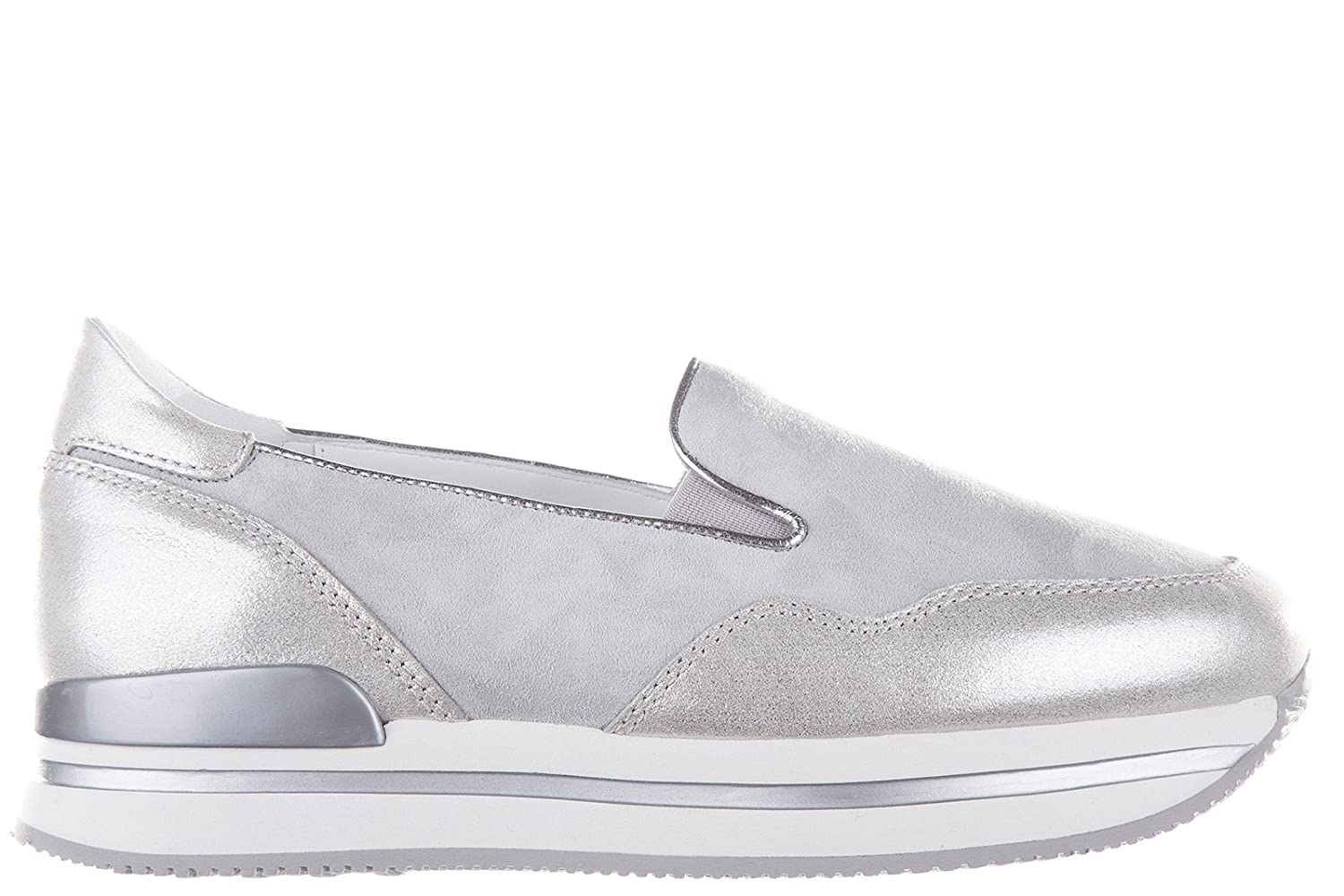 Hogan Women's Suede Slip on Sneakers h222 Grey