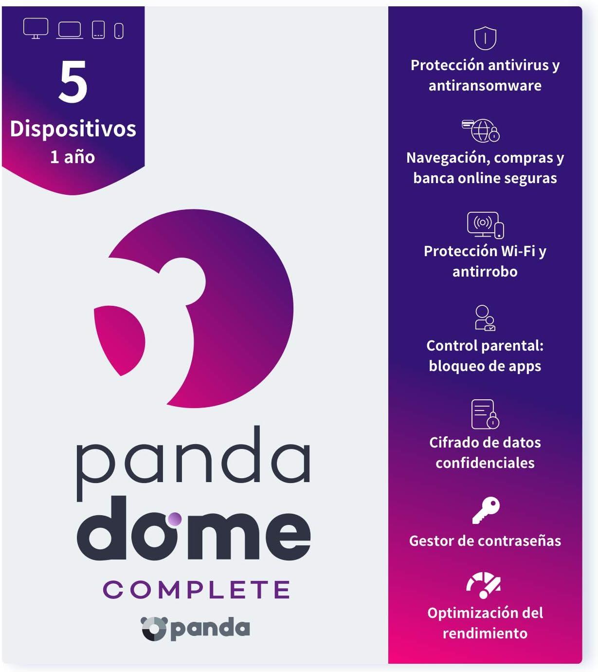 Panda Dome Complete 2021 – Antivirus   5 Dispositivos   1 año ...