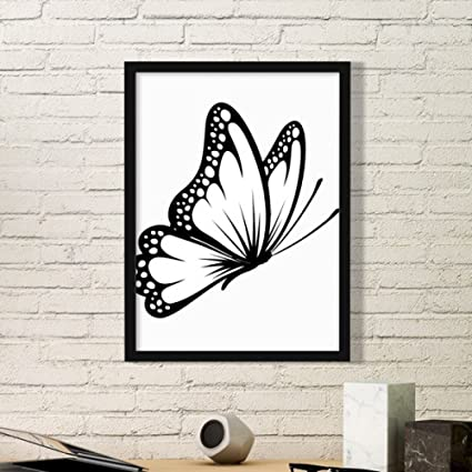 Amazon Com Diythinker Simple Vintage Butterfly In Black Simple