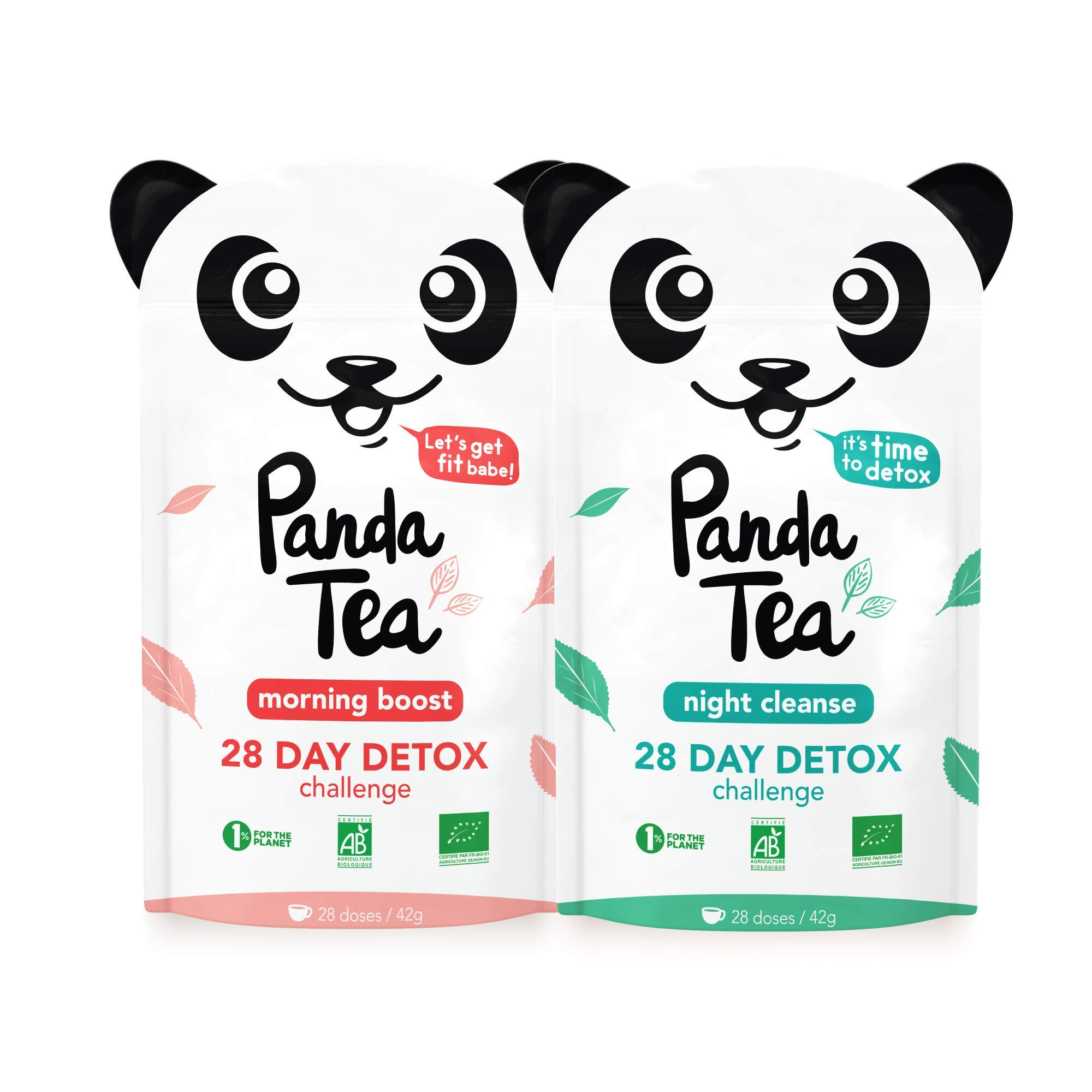 Panda Tea - Organic Cleanse Tea - Detox Tea - Slim Fit - 56 Tea Bags - 28-Day Slimming Detox - Weight Loss by Panda Tea