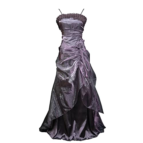 Cherlone Plus Size Purple Long Full Length Formal Prom Ballgown Wedding Bridesmaid Evening Dress UK 22