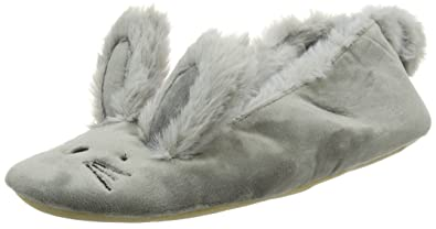 5dd5806af0f61 New Look Noft Bunny Ballerina, Chaussons Bas Femme, Gris (Mid Grey 4 ...