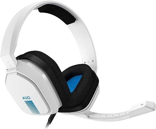 ASTRO Gaming A10 Cuffie Gaming Cablate con Microfono, Leggere e Resistenti, ASTRO Audio, Dolby ATMOS, Jack 3.5 mm, per PS5, PS4, Xbox Series X S, Xbox One, Switch, PC, Mac, Smartphone, Bianco Blu