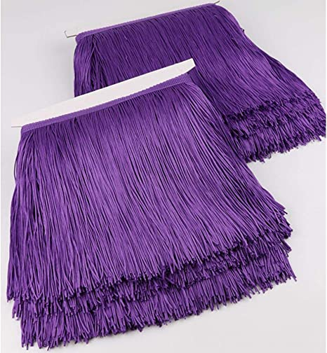Purple Beatiful 5 Yards of Pack 4 Width Fringe Trim
