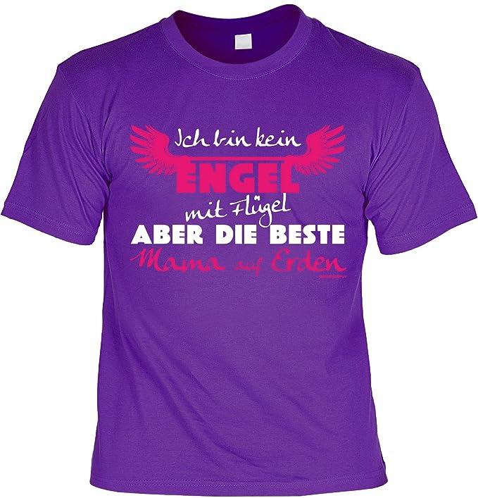 Mama Sprüche Tshirt Lustiges Funshirt Mutter Kein Engel