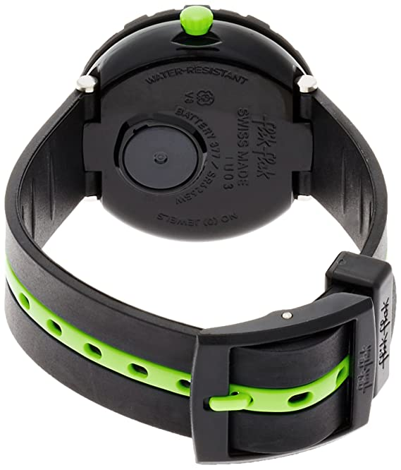 Amazon.com: Flik Flak Sunny Hours Green Ahead Black Dial Plastic Strap Boys Watch ZFCSP032: Watches