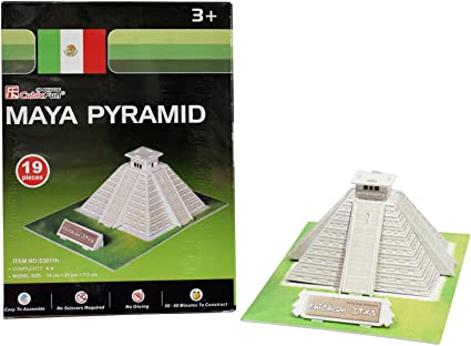 Asian Hobby Crafts Mini 3D Puzzle Worlds Greatest Architecture Series - Maya Pyramid