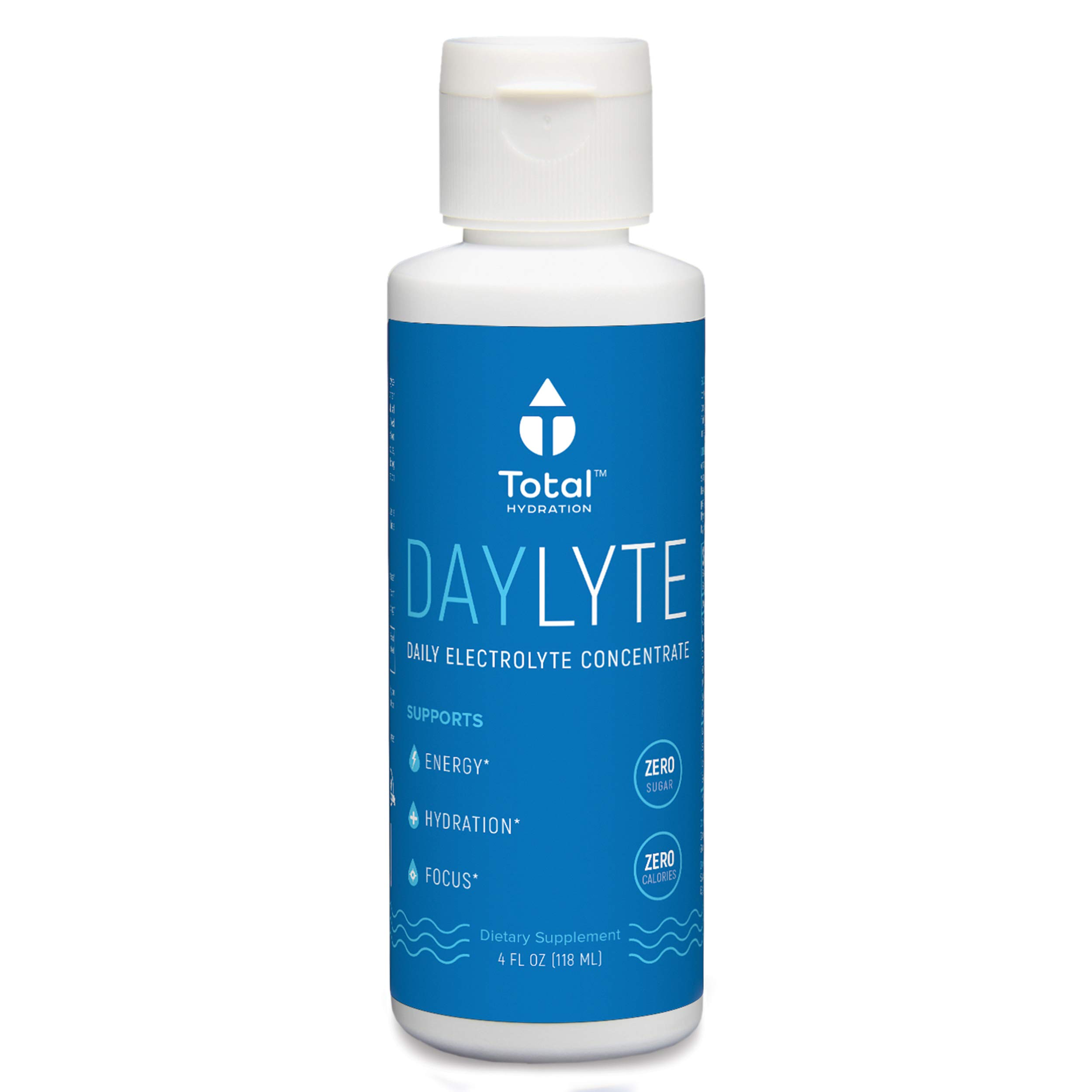Daylyte Electrolytes Supplement, Electrolyte Drops, Liquid Electrolytes, Magnesium Potassium Supplement, Increase Energy, Mental Focus, Reduce Leg Cramps and Hangover Cure, Trace Minerals, 39 Servings