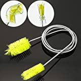 UEETEK Stainless Flexible Cleaning Brush Double