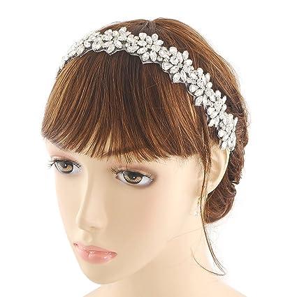 topq ueen Pearl Cerchietti Corona Cristallo Nozze Cerchietti sposa capelli  di testine gioielli (H01) db2e526b91eb