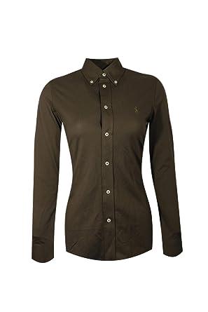 56736eb0cf13 Polo Ralph Lauren Womens Knit Oxford Shirt (Small