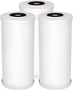 "AQUA CREST FXHTC 5 Micron 10"" x 4.5"" Whole House Big Blue Sediment Replacement Water Filter for GE FXHTC, American Plumber WRC25HD, GXWH35F, GNWH38S, Pack of 3"