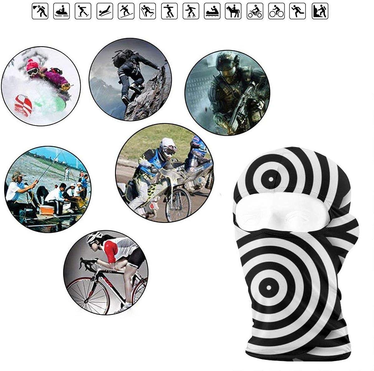 CAClifestyle Black and White Circles Unisex Windproof Balaclavas Full Face Mask Hood