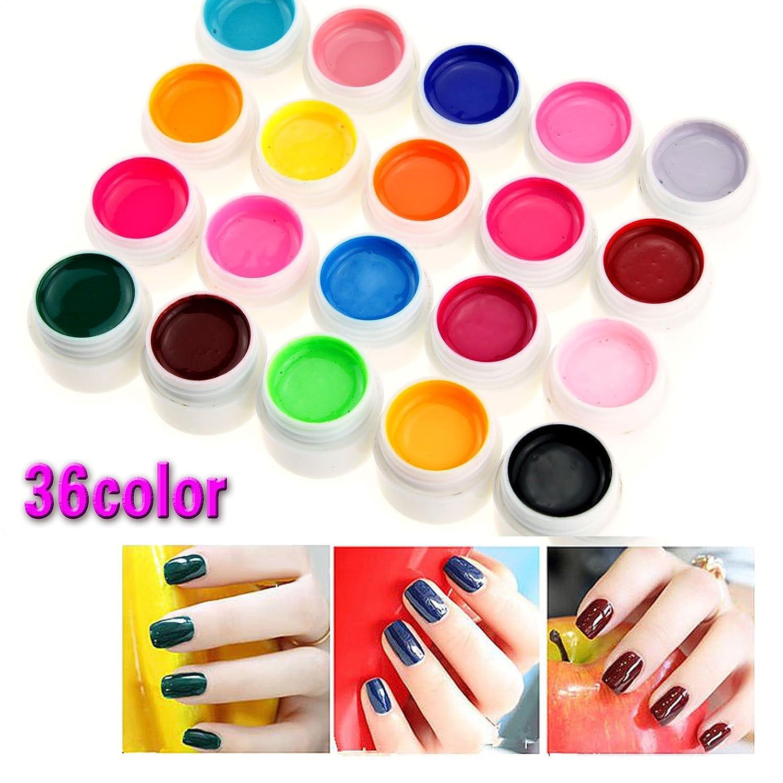 Set 36 Colores UV Gel Manicura Decoración para Uñas Acrílicas ...
