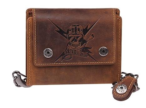 Rebel of Vintage - Monedero de Piel para Hombre, diseño de ...