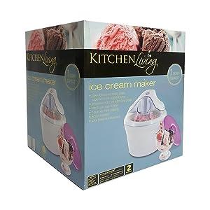 Kitchen Living Electric Ice Cream Maker 1 Quart Capacity