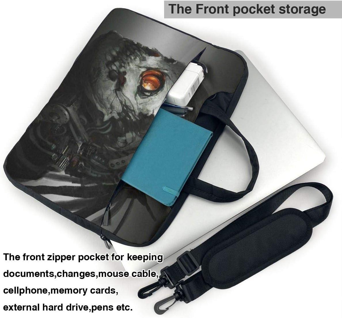 Robot Skull Portable Laptop Bag Business Laptop Shoulder Messenger Bag Protective Bag 15.6 Inch Yuotry Neoprene Laptop Sleeve Case