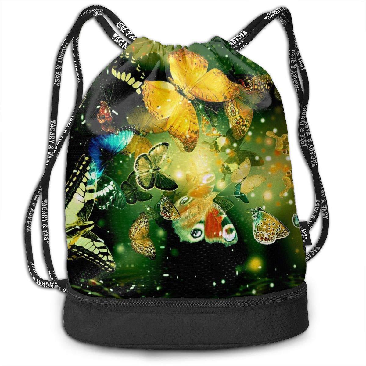 Portable Bundle Backpack Abstract Yin Yang Smog Drawstring Bag For Girls /& Boys Gym Yoga Runner Sports Daypack