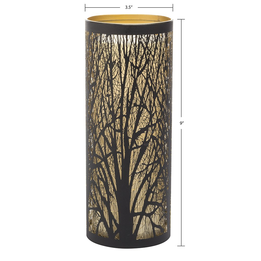 Sterno Home Candle Impressions by Indoor/Outdoor Laser Cut Tree Luminary with Programmable Timer by Sterno Home