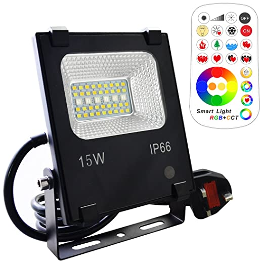 Lightaurora 15w led floodlight outdoor rgb colour changing led lightaurora 15w led floodlight outdoor rgb colour changing led flood lights with remote rgb mozeypictures Gallery