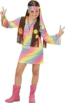 WIDMANN 73356 ? Disfraz para niños Hippie Chica, vestido ...