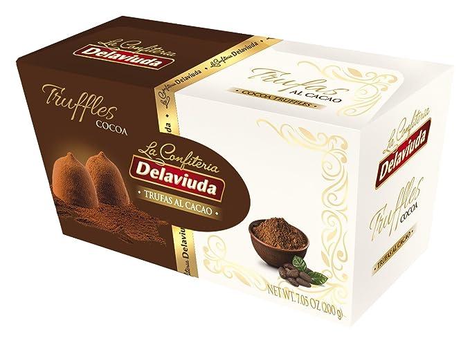 Delaviuda Bombones de Chocolate Trufas Al Cacao - 200 gr