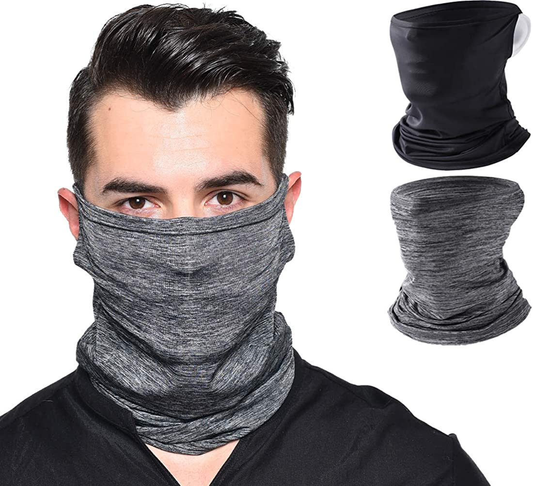 Face Scarf Bandana Mask Ear Loops Face Balaclava Cover Bandana Men Women UV Sun, Wind Protection