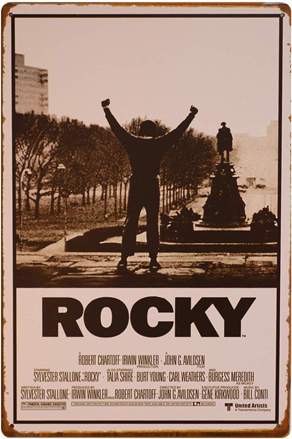 Forry Rocky M/étal Mur Affiche Vintage Plaque /Étain Signe R/étro D/écorer Artisanat pour Caf/é Bar Garage Salon Chambre