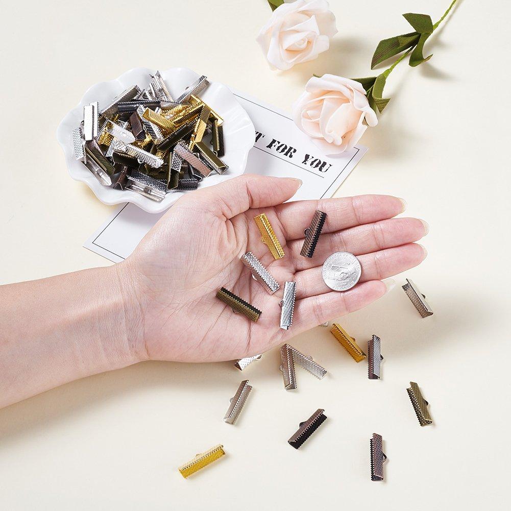 Kissitty 100Pcs Antique Silver Lock Shape Cord Ends Terminators 10x6.5mm Tibetan Style Metal Lead Free /& Cadmium Free Necklace Bracelet End Caps