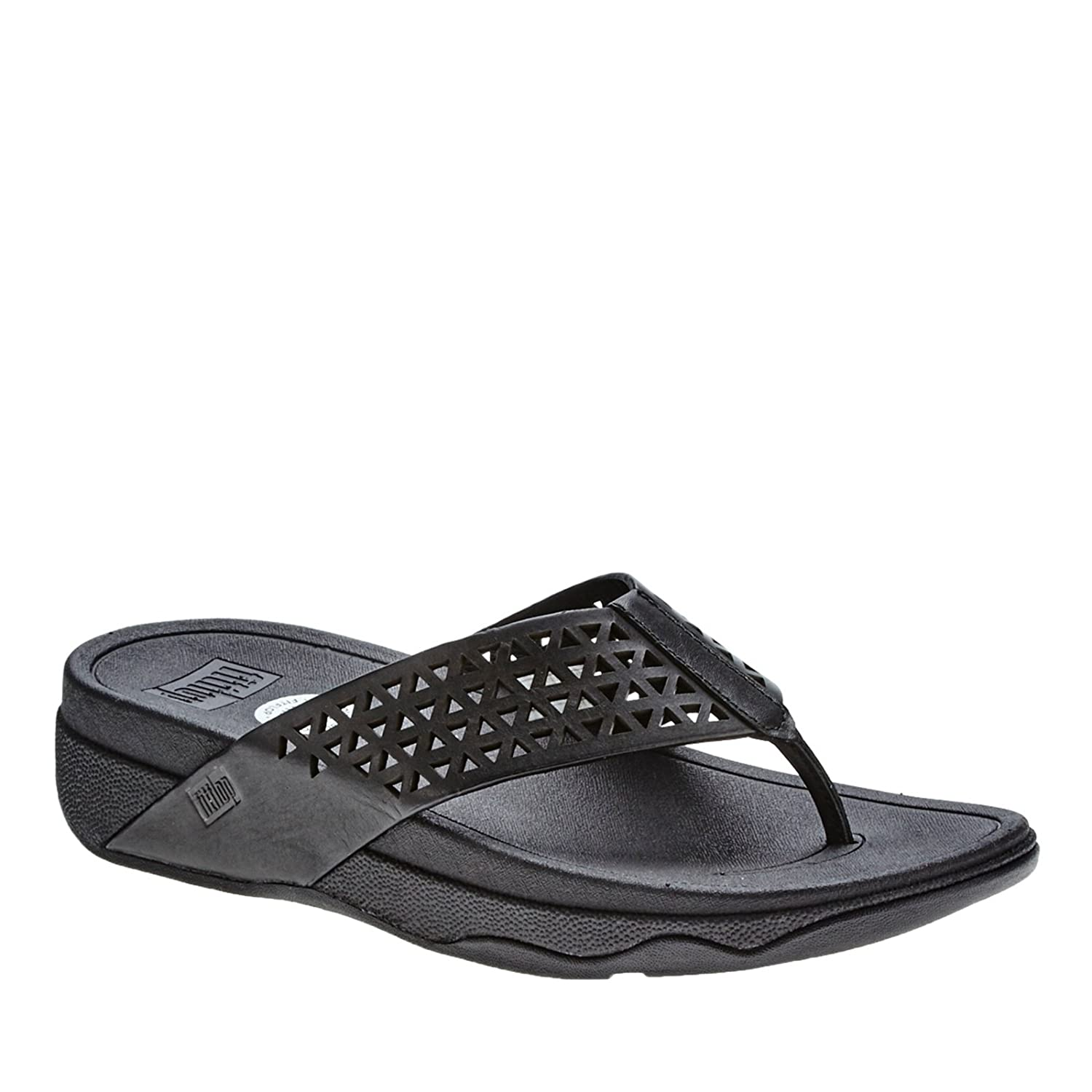 d803ad4a64a17b Fitflop Leather Lattice Surfa - Sandals Women Size  9 UK(M)  Amazon ...