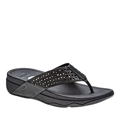 b16155317 Fitflop Leather Lattice Surfa - Sandals Women Size  9 UK(M)  Amazon ...