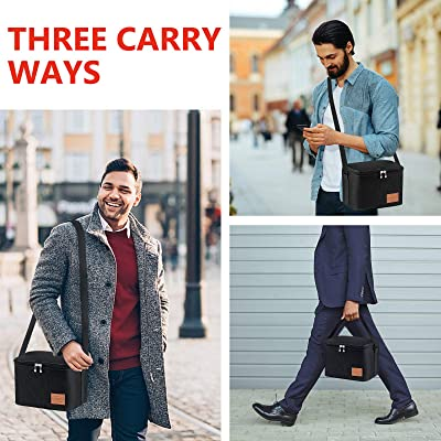 7.5L Portable Lunch Bag Box Women Men Thermal Insulated Tote Picnic Food Coolbag