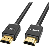 TIZUM Ultra HDMI 2.0 -Gold Plated-High Speed Data 18Gbps, 3D, 4K, HD 2160p (5 Ft/ 1.5M-Grey)