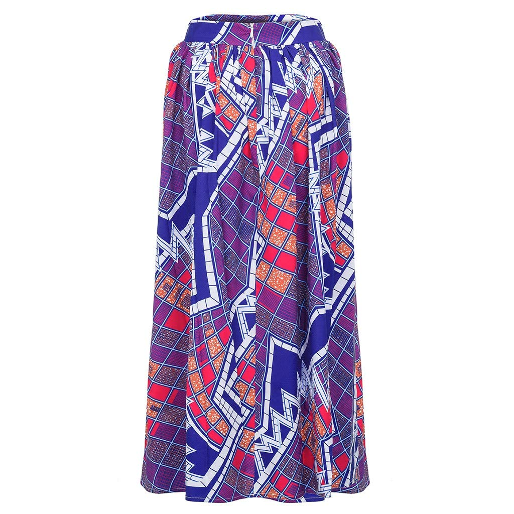 WOCACHI Skirt for Womens, Womens Fashion Leisure African Flower Long Skirt High Waist A-line Long Skirt Trendy Halter Backless Hollow Out Long Sleeve Sleeveless Strap Strapless Lace Bodycon by WOCACHI (Image #4)