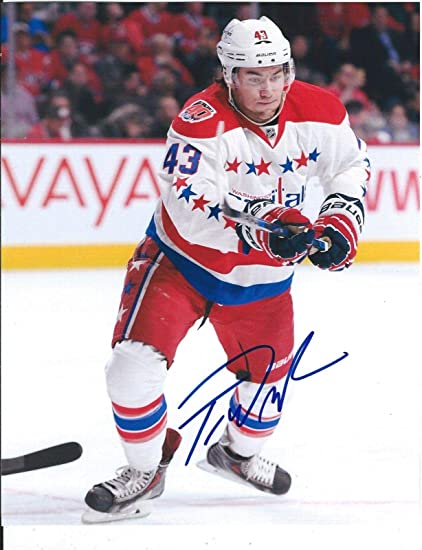 info for 7727b 59b8f Tom Wilson Autographed Picture - Third Throwback Jersey 8x10 ...