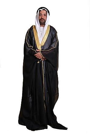 Amazon.com  Desert Dress Black Bisht Cloak Arab Dress Thobe Saudi Mens Robe  Eid (Balck)  Clothing bfd5d26cf
