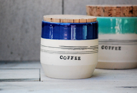 stoneware kitchen canisters sugar jar flour jar by claylicious