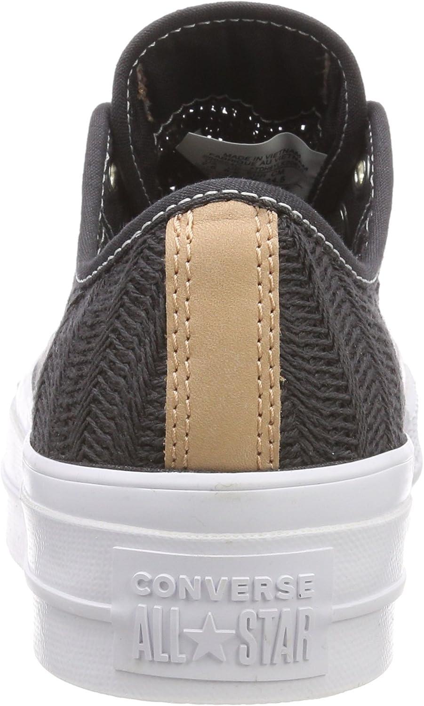 Converse CTAS Lift Ox Almost Black, Baskets Femme: