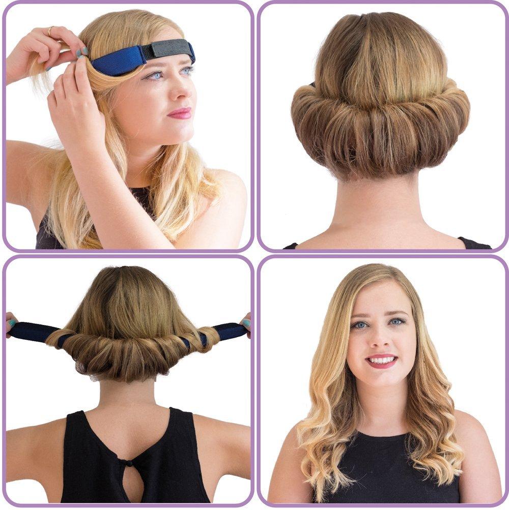 GlamWaves, Haarband, zum Eindrehen der Frisur, für kurze bis mittellange  Haare geeignet