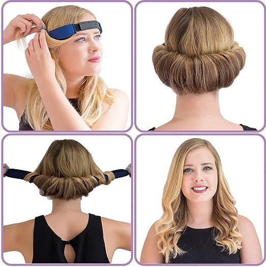 Glamwaves Haarband Zum Eindrehen Der Frisur Fuumlr Kurze Bis