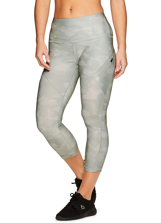 S19 Camo Green RBX Active Women's Seasonal Printed Capri Length Yoga Leggings