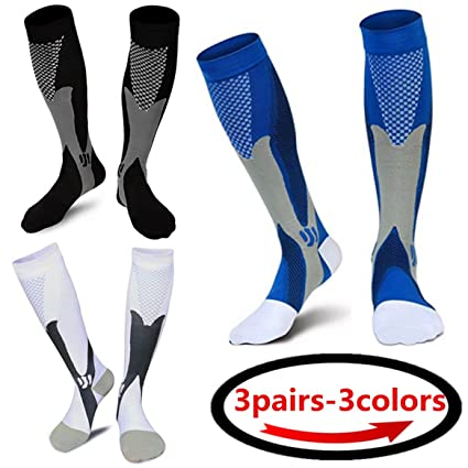 discount best shoes huge sale (3 pairs)Compression Socks / Stockings for Men & Women,Better Blood  Circulation, Prevent Blood Clots, Boost Stamina,Circulation, Reduced  Fatigue,Speed ...
