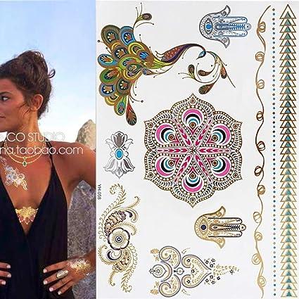 7pcs Tatuaje pieza de reloj de arena patrón de diosa Tatuaje ...