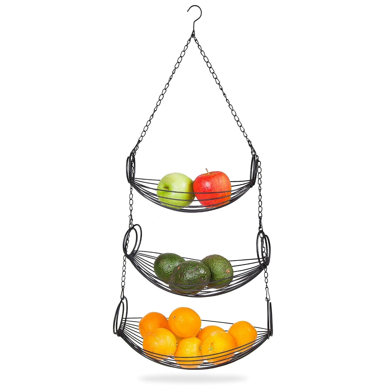 Home Kitchen Organizer Hanging Basket Storage Mesh Fruit
