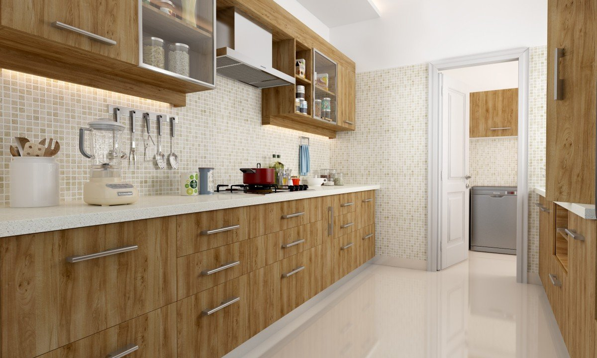 Jrc homedecor ply wood finish modular kitchen wooden yellow and brown amazon in home kitchen