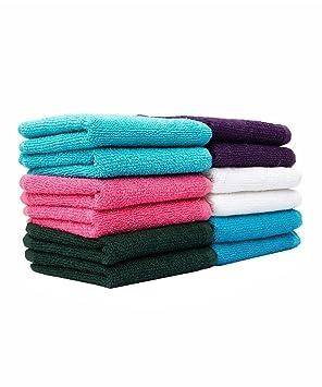 Casa Basics - 10 unidades gamuza DE CARA/lavado toallas en cinco colores surtidos: Amazon.es: Hogar
